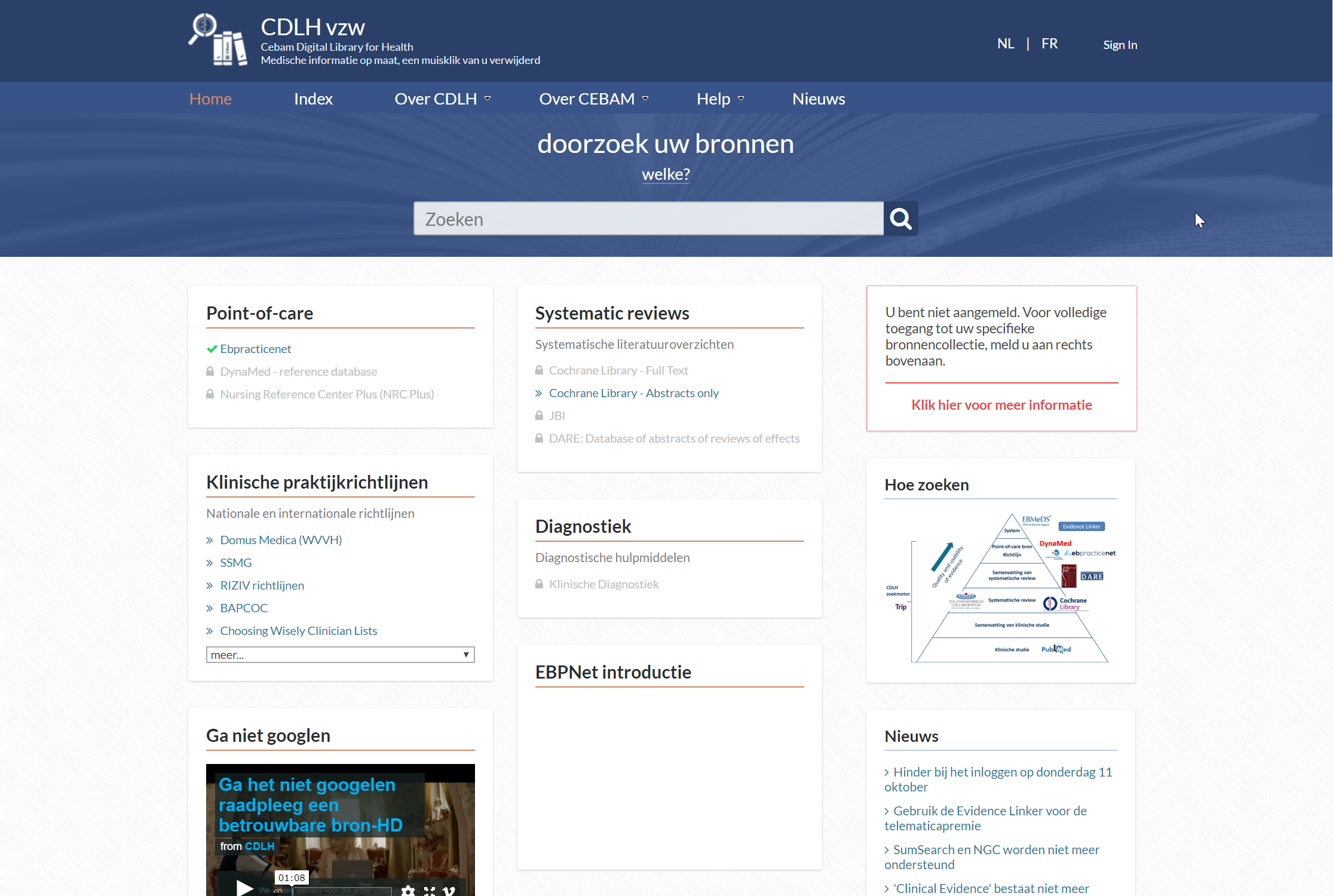 CDLH – CEBAM Digital Library for Health
