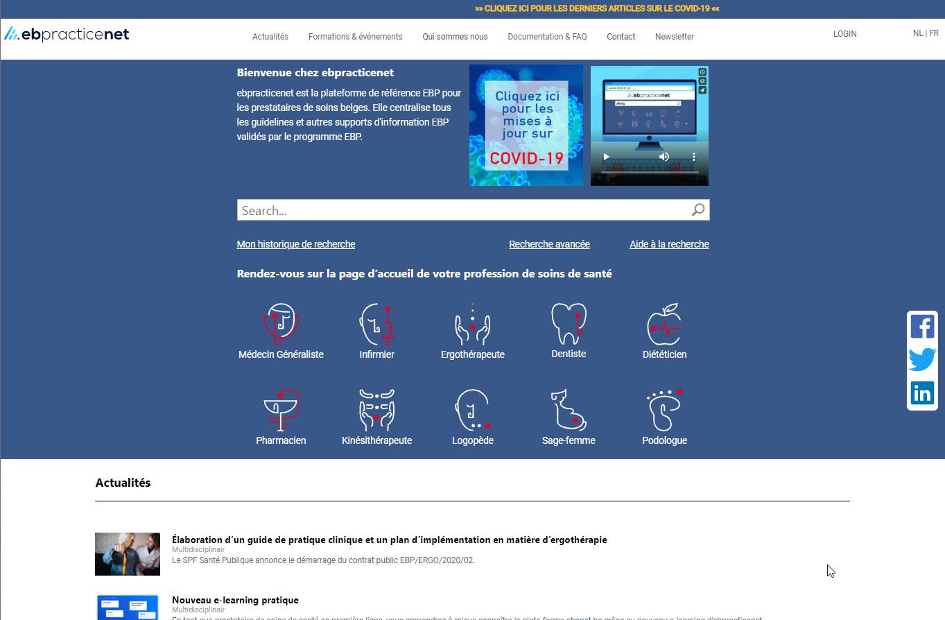 ebpracticenet – EBMG voor de Belgische gezondheidszorg